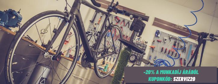 Biciklikk kerékpárszerviz kupon akció
