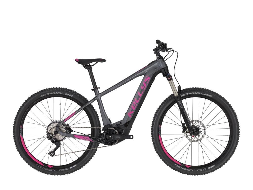 """KELLYS Tayen 50 630Wh 27.5"""" női MTB elektromos kerékpár, szürke / pink"""