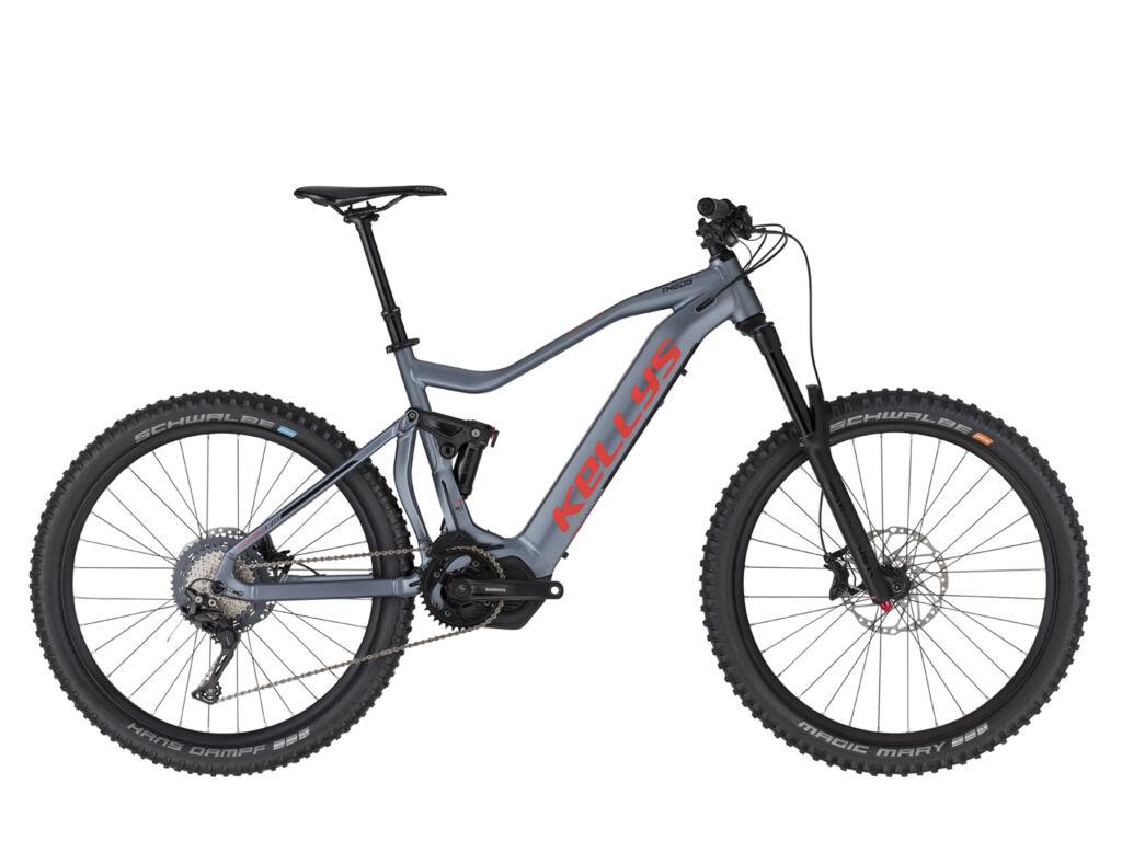 """KELLYS Theos i70 27.5"""" férfi MTB elektromos kerékpár, metálkék"""