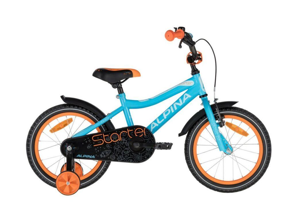 ALPINA Starter 16'' gyermekkerékpár, Blue Orange