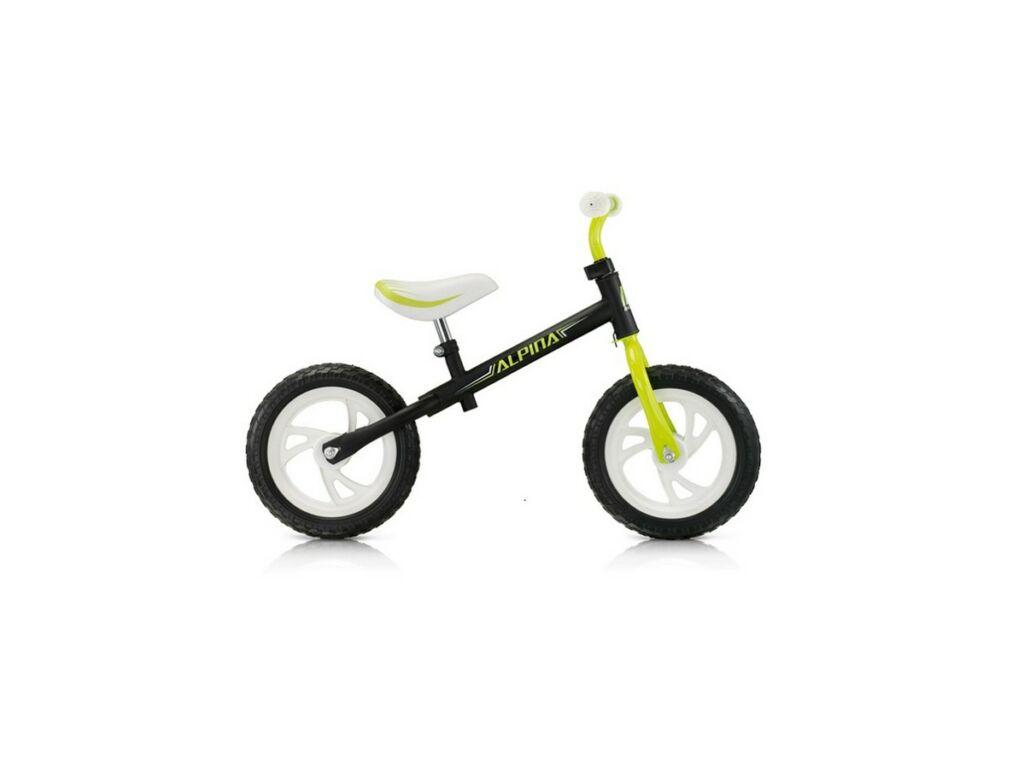 ALPINA Tornado 12'' tanulókerékpár / futóbicikli, Black-Green