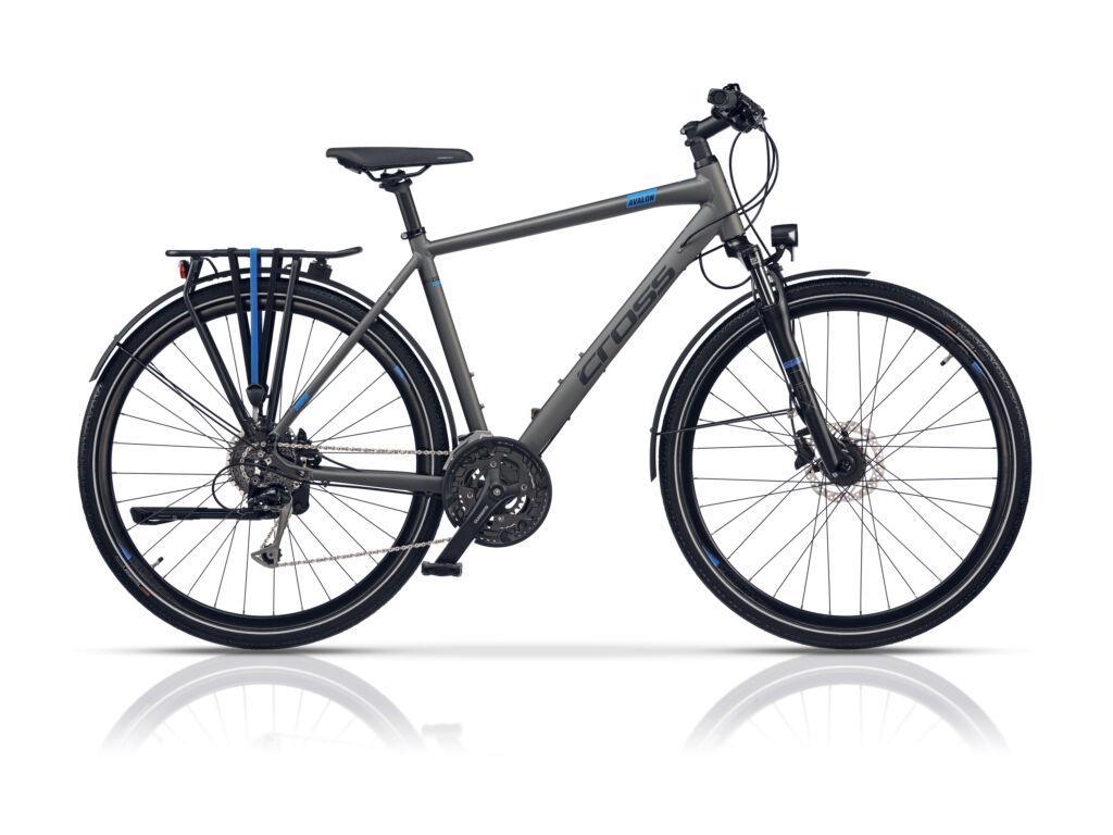 Cross AVALON Gent férfi trekking kerékpár, szürke / kék