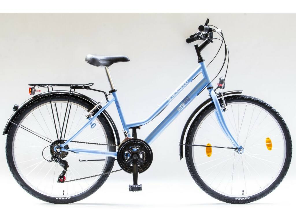 """CSEPEL BLACKWOOD ATB 26/16"""" NÖI 18SP 19 női városi kerékpár, kék"""