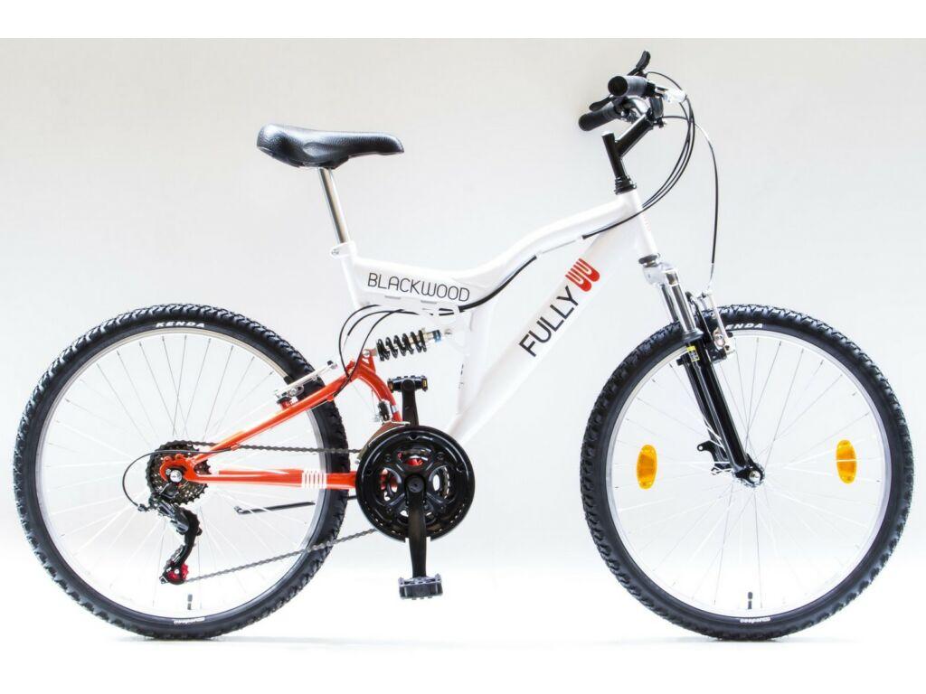 """CSEPEL BLACKWOOD FULLY 24/17"""" 18SP 2019 MTB kerékpár, fehér/narancs"""