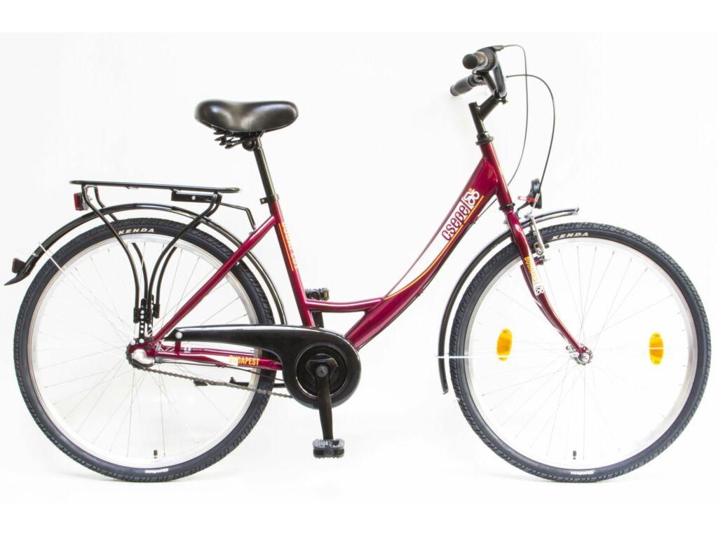 CSEPEL BUDAPEST A 26/17 col N3 2020 városi kerékpár - bordó