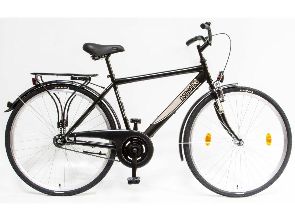 CSEPEL Budapest FFI 28/19 col GR 2020 1 seb. kontrás férfi városi kerékpár - fekete