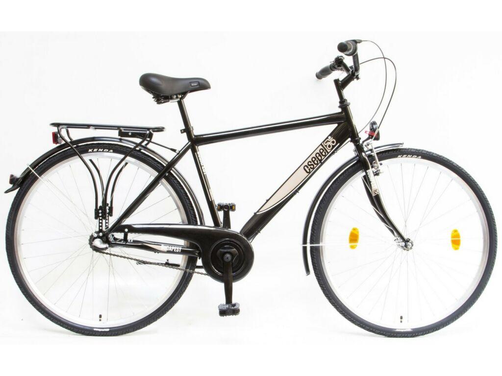 CSEPEL Budapest FFI 28/19 col N3 2020 3 seb. agyváltós férfi városi kerékpár - fekete