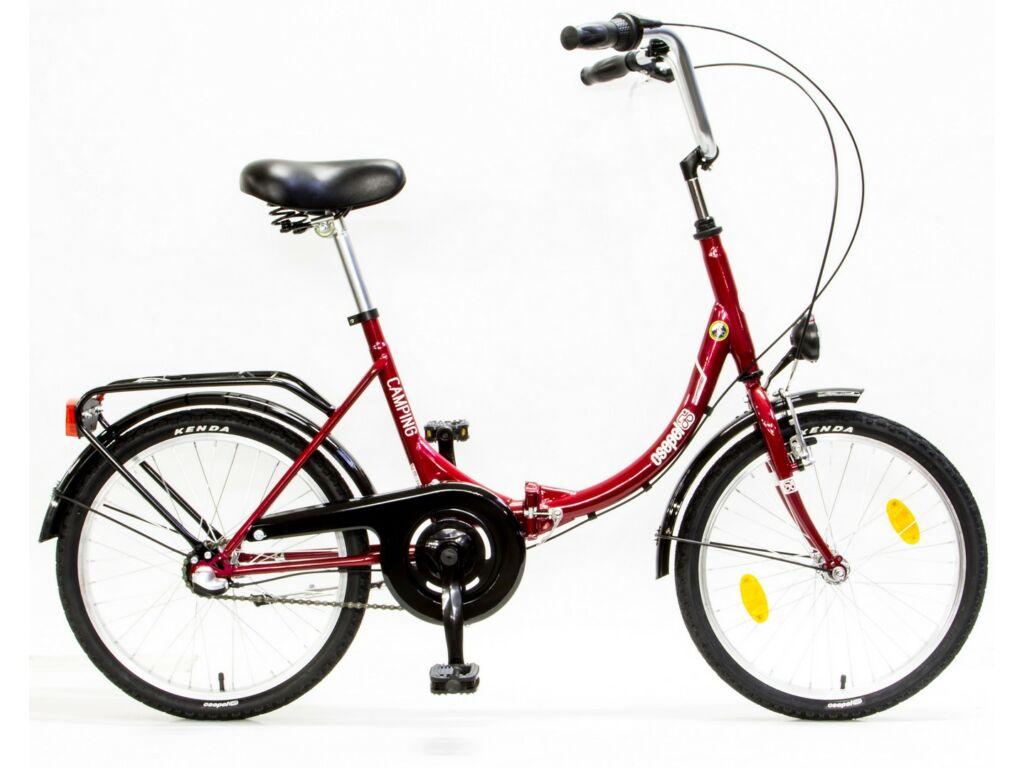 CSEPEL CAMPING 20/15 ÖCS N3 17 városi / folding (összecsukható) kerékpár, piros/fehér