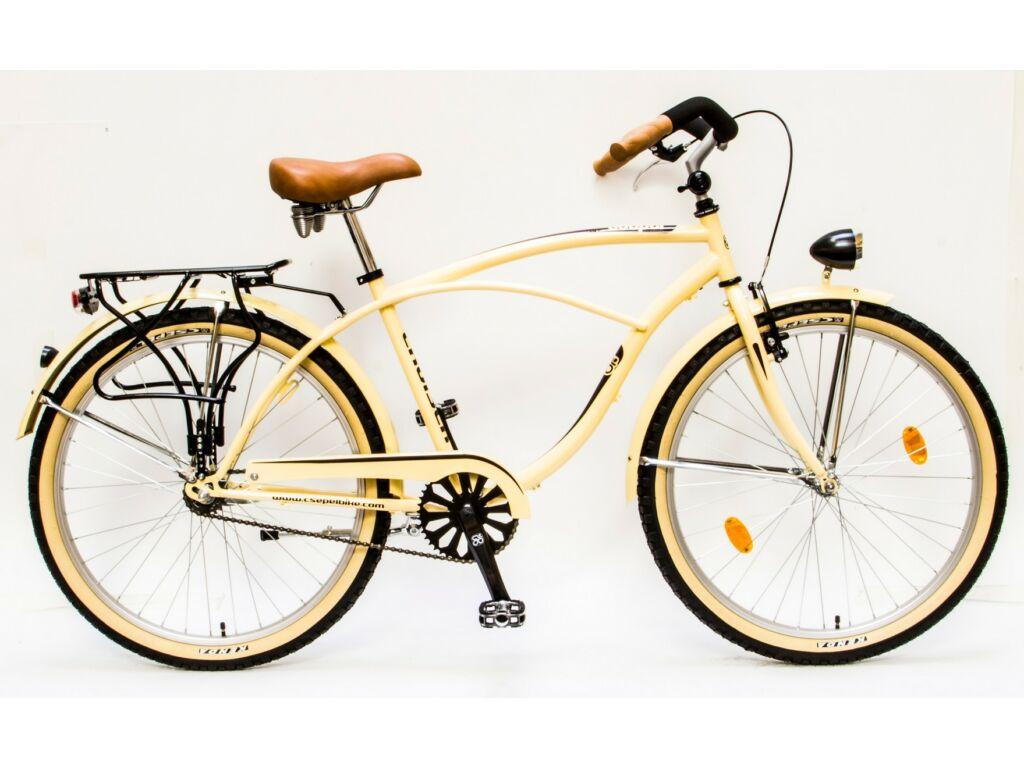 "CSEPEL CRUISER 26/18"" NEO FFI GR 16 férfi városi kerékpár, krém"