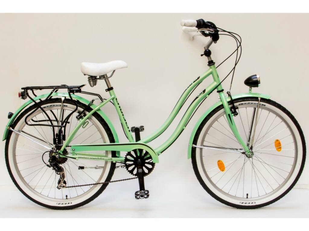 """CSEPEL CRUISER 26/18"""" NEO NÖI 7SP 16 női városi kerékpár, zöld"""