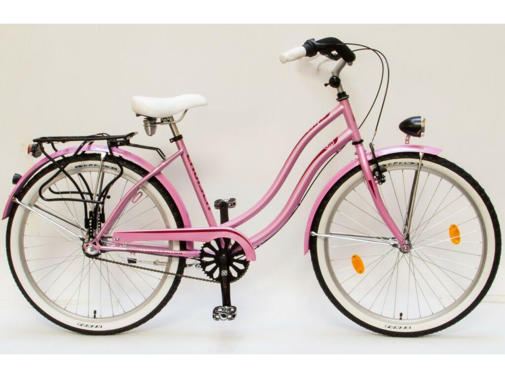"""CSEPEL CRUISER 26/18"""" NEO NÖI N3 16 női városi kerékpár, pink"""