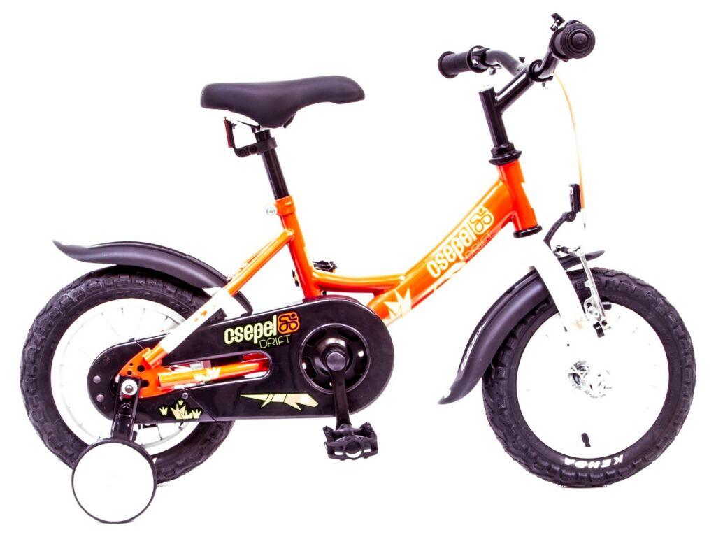 CSEPEL Drift 12 col GR 17 gyermek tanulókerékpár - piros/fehér gyíkos