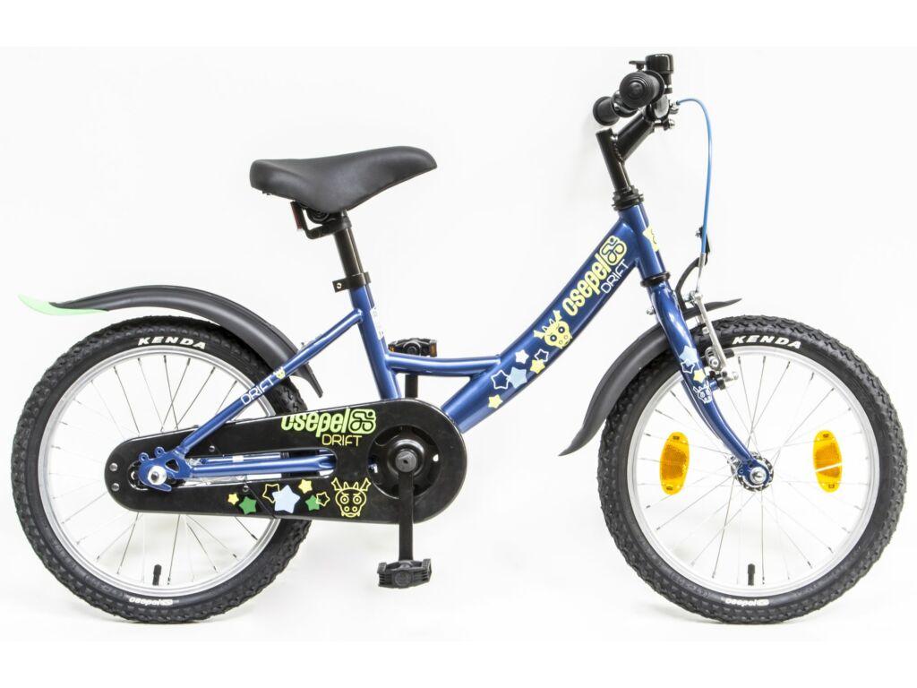 CSEPEL Drift 16 col GR 20 gyermek tanulókerékpár - kék - szarvasos