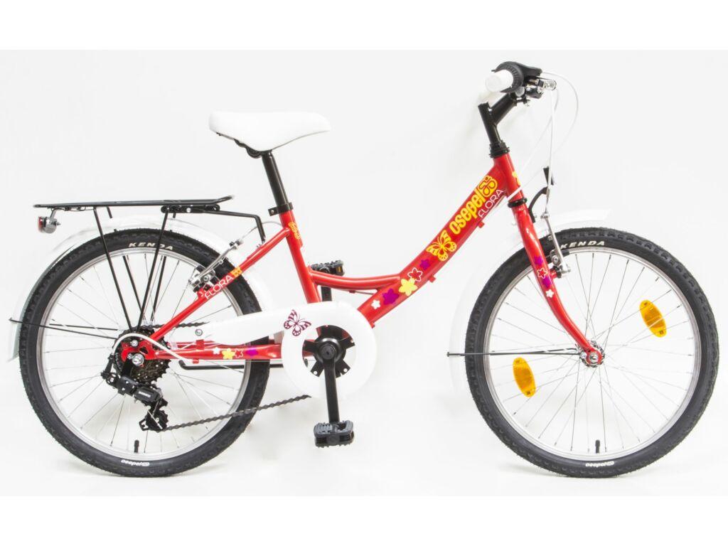 CSEPEL Flóra 20 col 6SP 20 gyerek kerékpár - piros / pillangós