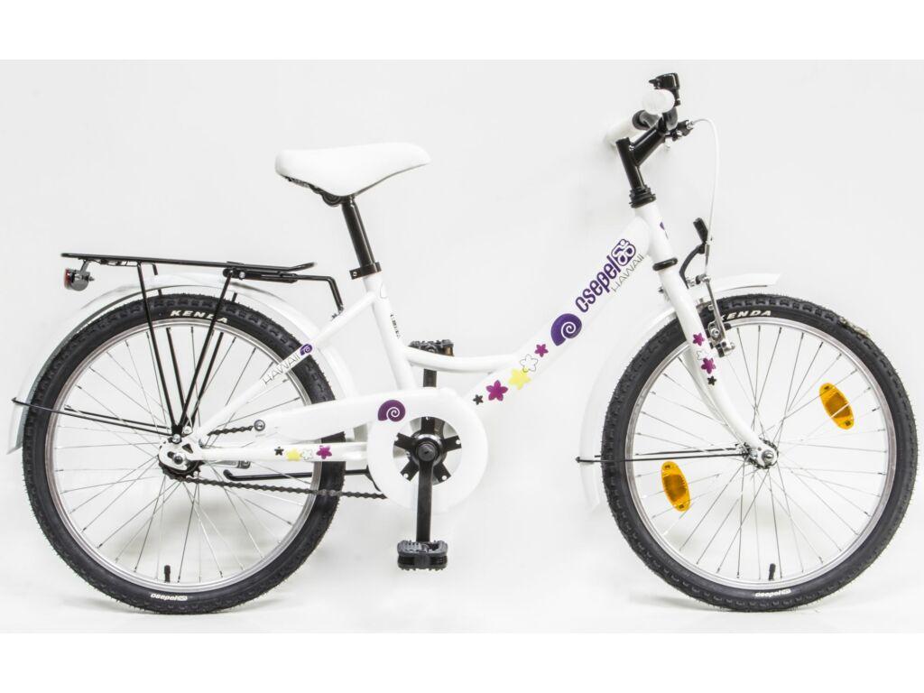 CSEPEL Hawaii 20 col GR 20 gyerek kerékpár - fehér / csigamintás