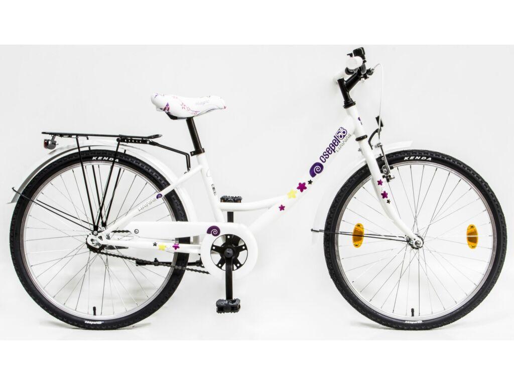 CSEPEL Hawaii 24 col GR 20 gyerek kerékpár - fehér / csigamintás