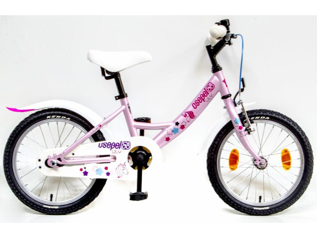 CSEPEL Lily 16 col GR 20 gyerek kerékpár - rózsaszín / unikornisos