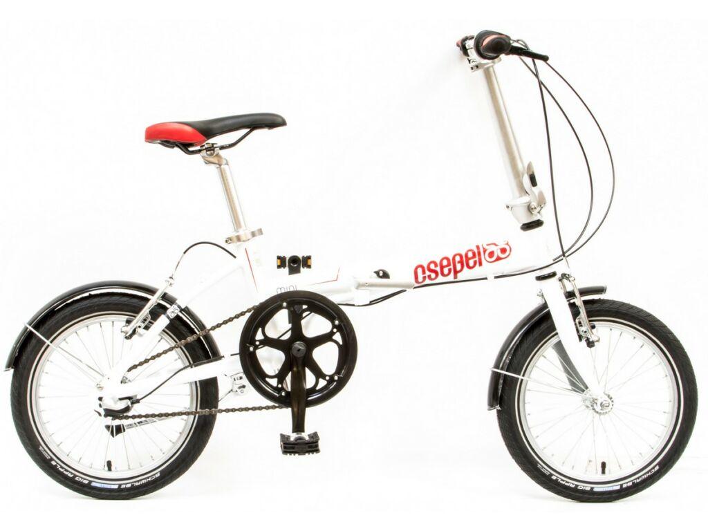 CSEPEL Mini 16 N3 2017 3 seb. agyváltós összecsukható városi kerékpár - fehér