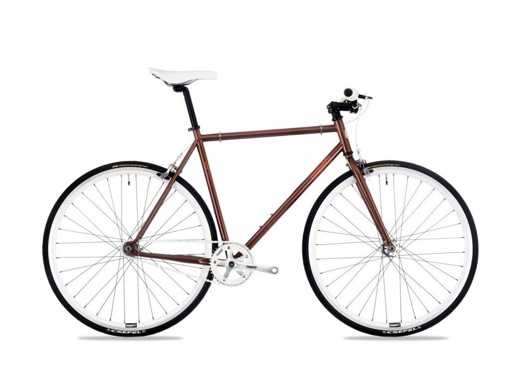 CSEPEL ROYAL 3* 28/520 17 férfi országúti / fixie kerékpár, barna