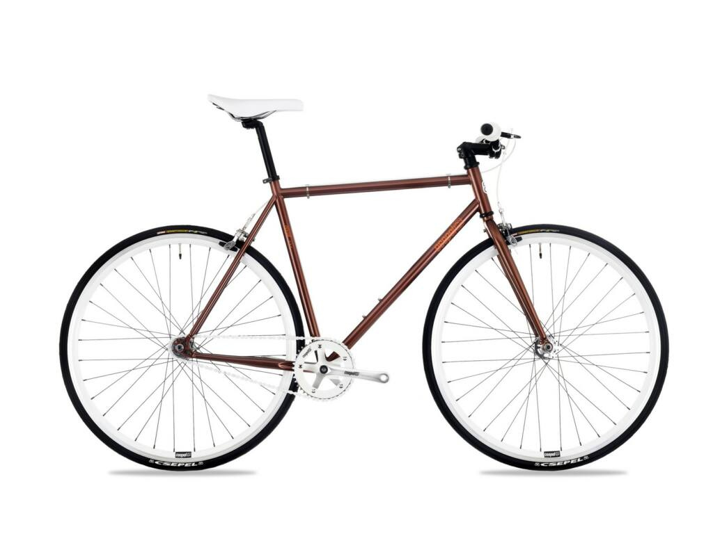 CSEPEL Royal 3* 28/520 17 férfi városi fixi / single speed kerékpár - barna