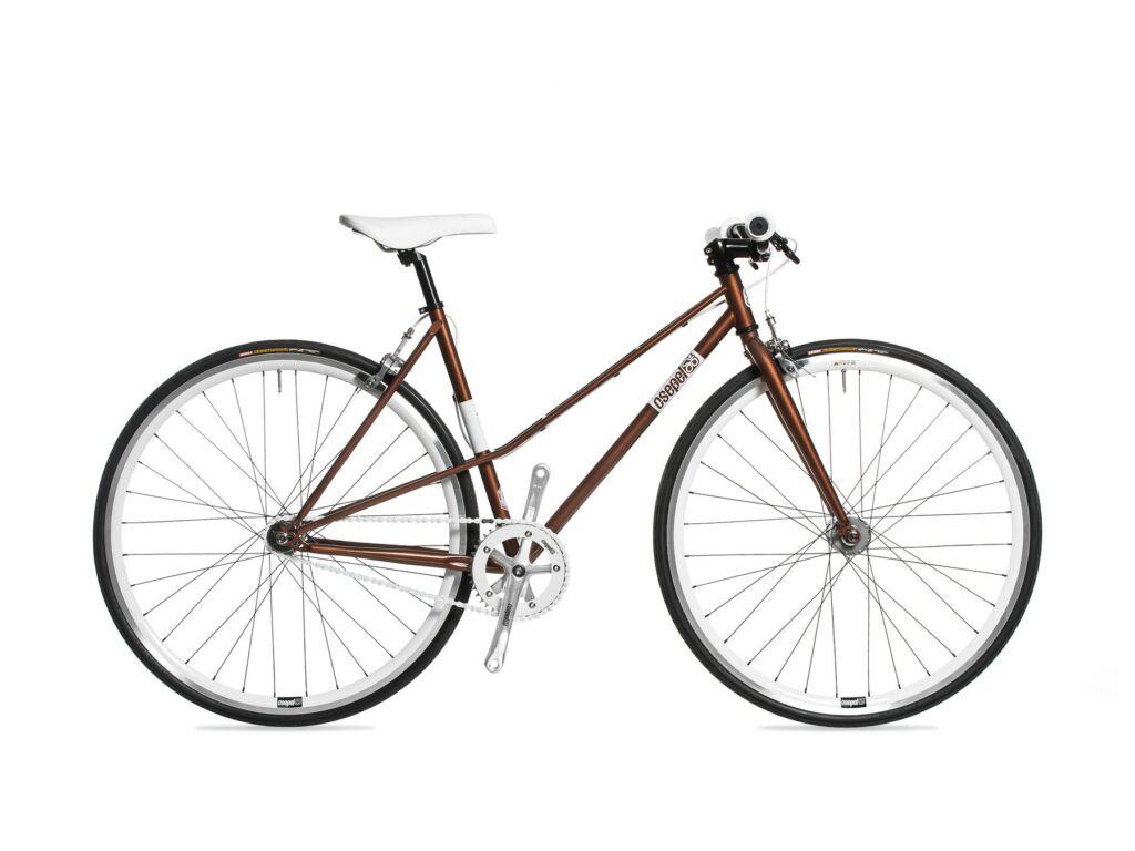 CSEPEL ROYAL 3* LADY 28/540 13 női országúti / fixie kerékpár, barna