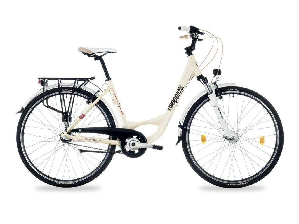 """CSEPEL SIGNO 28/17"""" AGYD N3 2016 városi kerékpár - krém"""