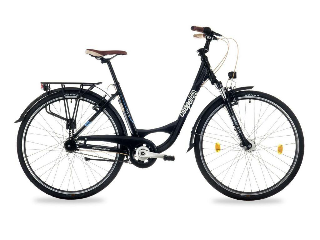 """CSEPEL SIGNO 28/17"""" AGYD N7 2016 városi kerékpár, fekete"""