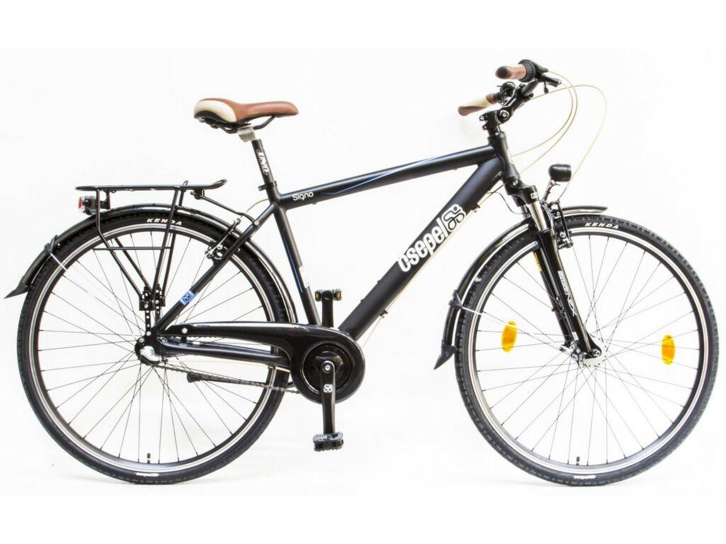 CSEPEL Signo FFI 28/19 col N3 2019 3 seb. agyváltós - agydinamós férfi városi kerékpár - matt fekete