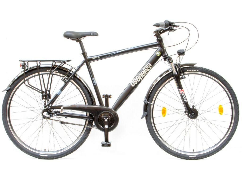 CSEPEL Spring 100 FFI 28/19 col N3 2016 3 seb. agyváltós - agydinamós férfi városi kerékpár - fekete