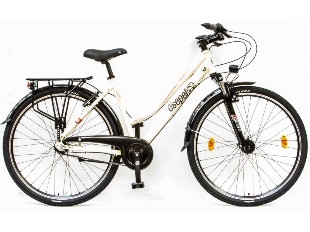 """CSEPEL SPRING 100 NÖI 28/17"""" AGYD N3 2016 női városi kerékpár - fehér"""