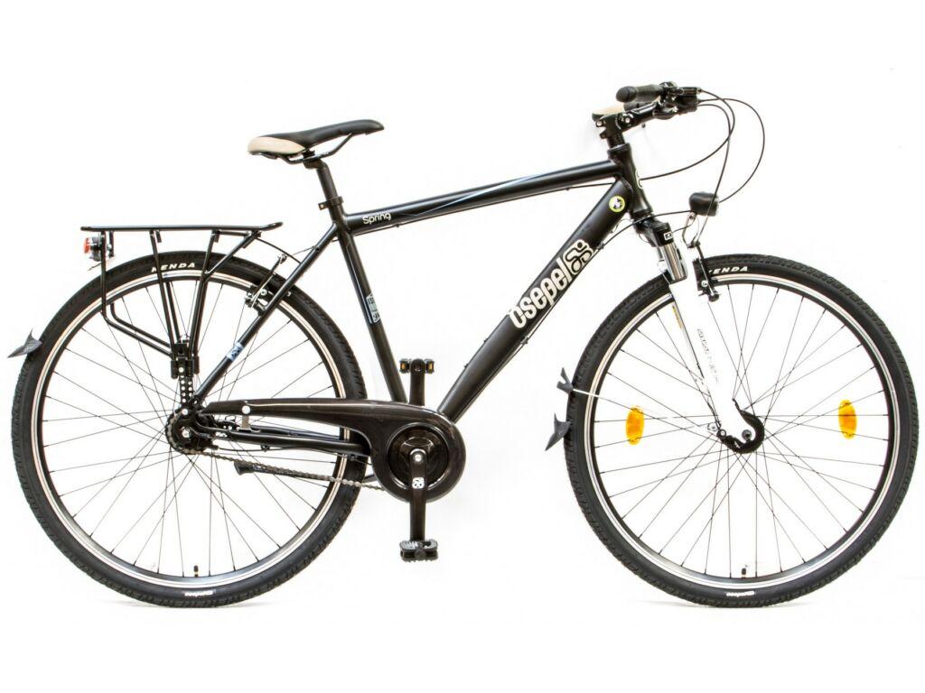 CSEPEL Spring 200 FFI 28/19 col N7 2016 7 seb. agyváltós - agydinamós férfi városi kerékpár - fekete