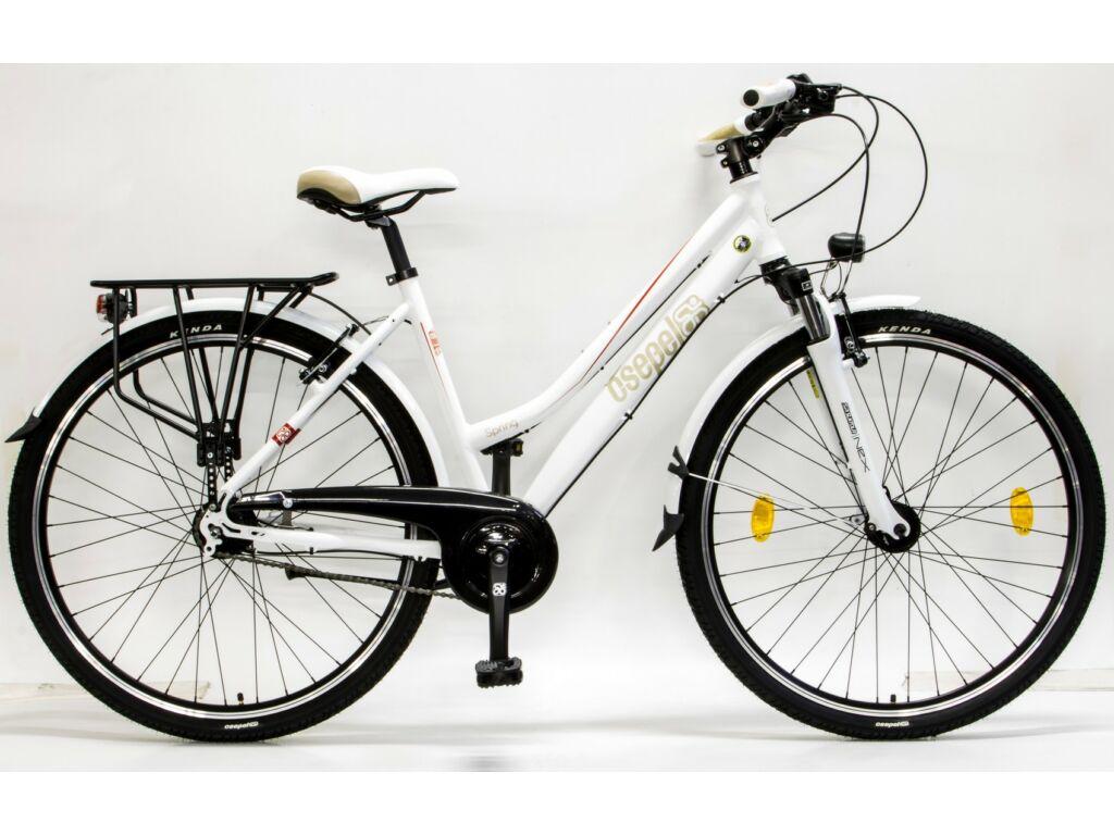 CSEPEL Spring 200 NÖI 28/17 col N7 2016 7 seb. agyváltós - agydinamós női városi kerékpár - fehér