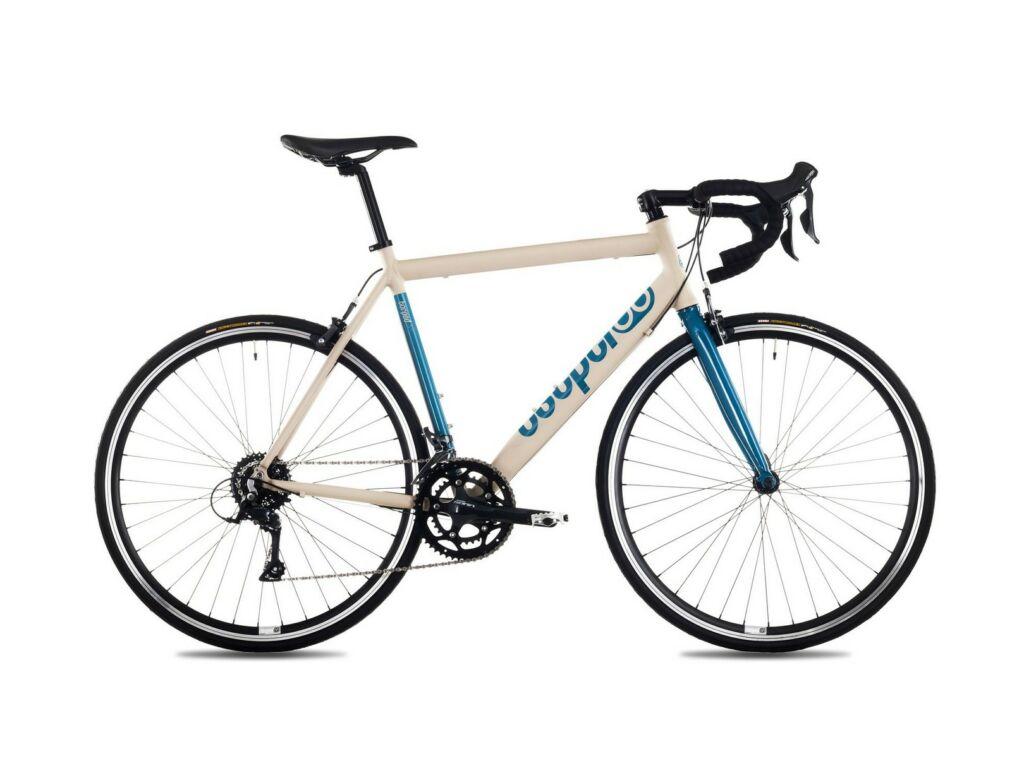 CSEPEL TORPEDAL 2.0 28/490 19 országúti kerékpár, matt homok/türkiz
