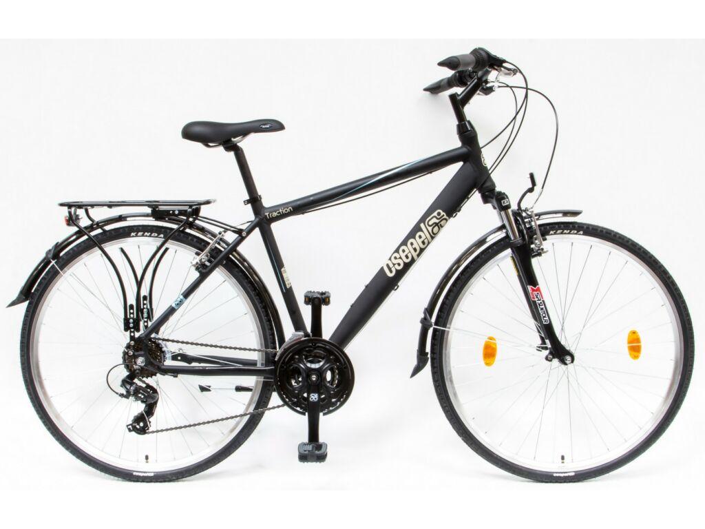 CSEPEL TRC 100 28/19 col FFI 21SP 18 férfi túra / trekking kerékpár, matt fekete