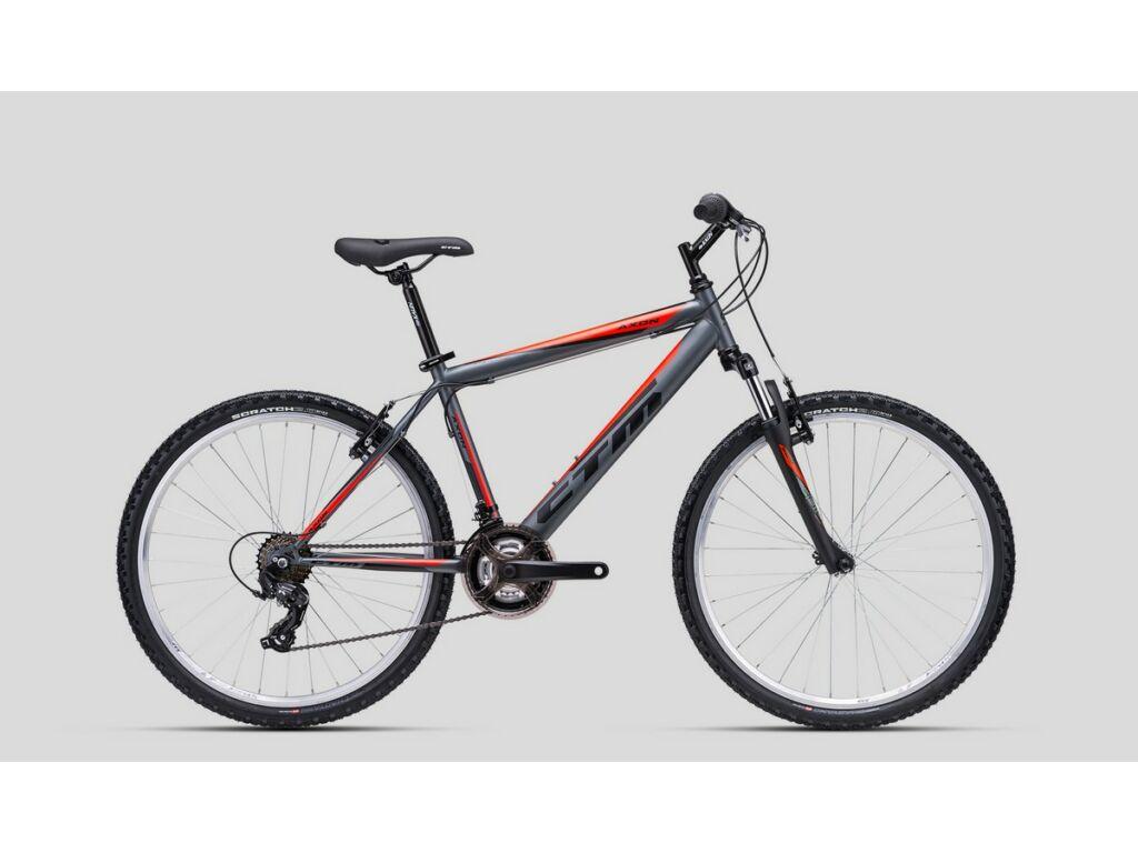 """CTM Axon 26"""" MTB kerékpár, matt titánszürke / fluo narancs"""