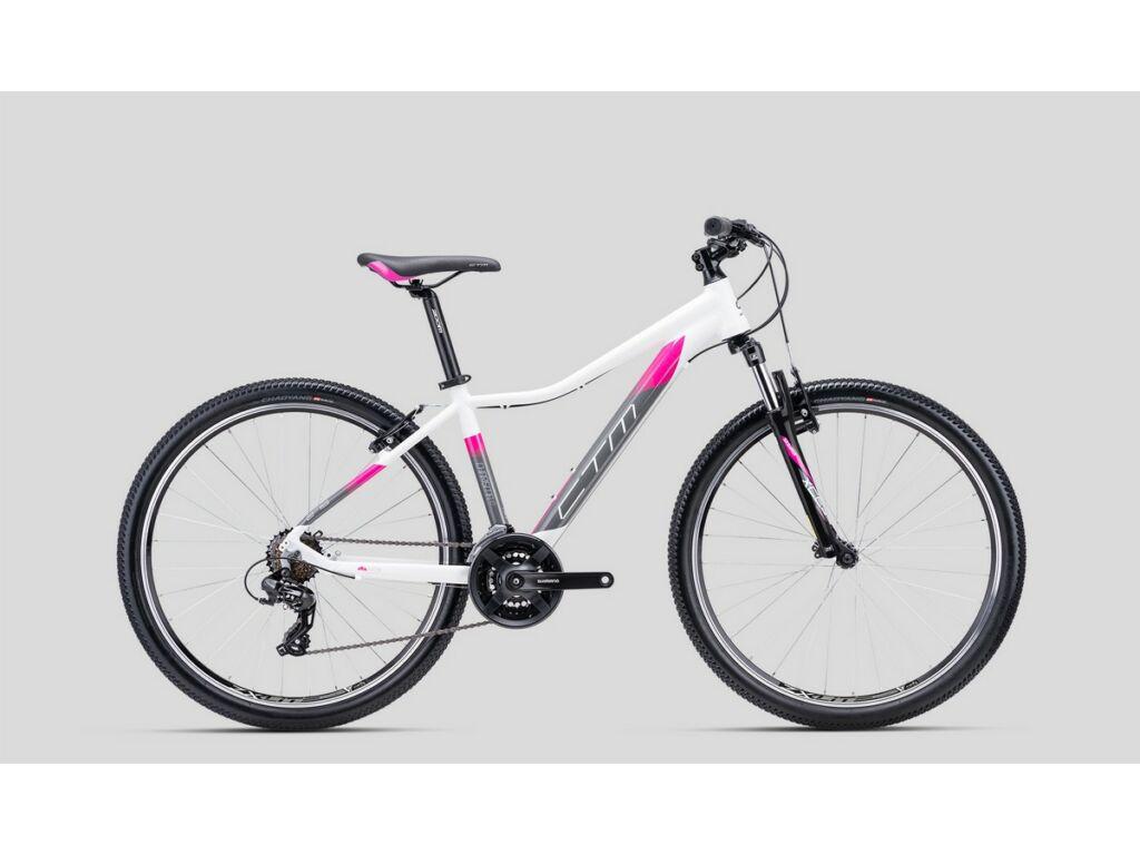 """CTM Charisma 1.0 27.5"""" női MTB kerékpár, fehér / pink"""