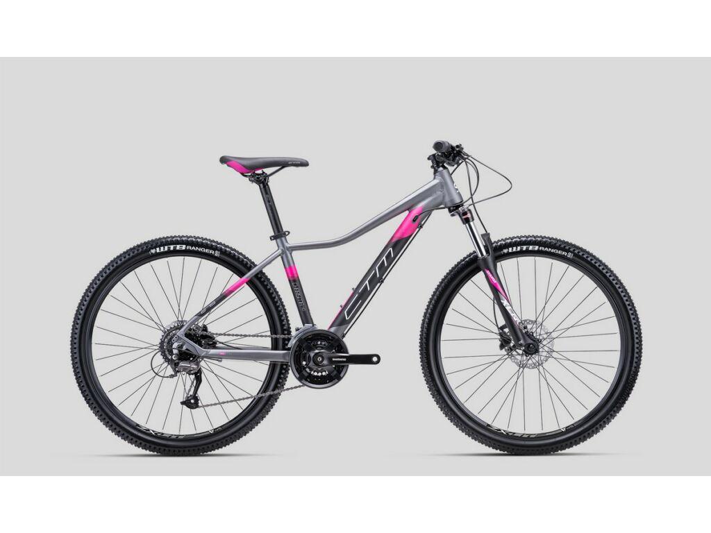 """CTM Charisma 4.0 27.5"""" női MTB kerékpár, matt szürke / pink"""