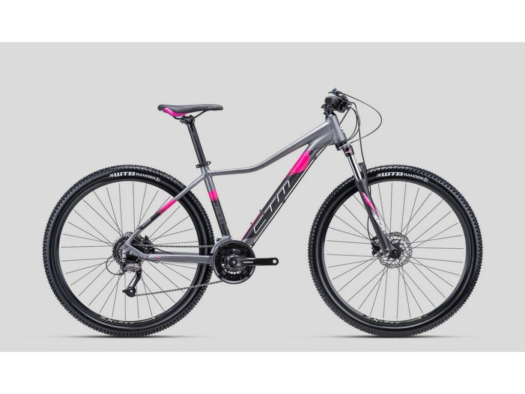 """CTM Charisma 4.0 29"""" női MTB kerékpár, matt szürke / pink"""