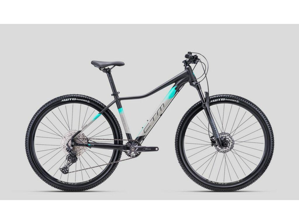 """CTM Charisma 6.0 29"""" női MTB kerékpár, matt fekete / türkíz"""