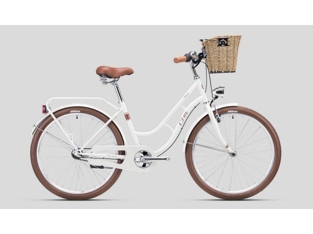 """CTM Fiore 26"""" női városi kerékpár, gyöngyház fehér / barna"""