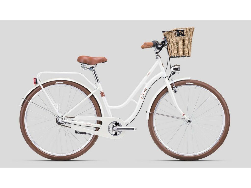"""CTM Fiore 28"""" női városi kerékpár, gyöngyház fehér / barna"""