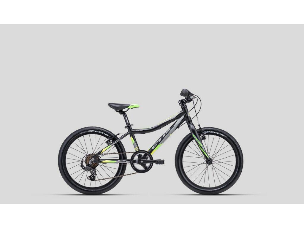 """CTM Jerry 3.0 20"""" fiú gyermekkerékpár, matt fekete / lime"""
