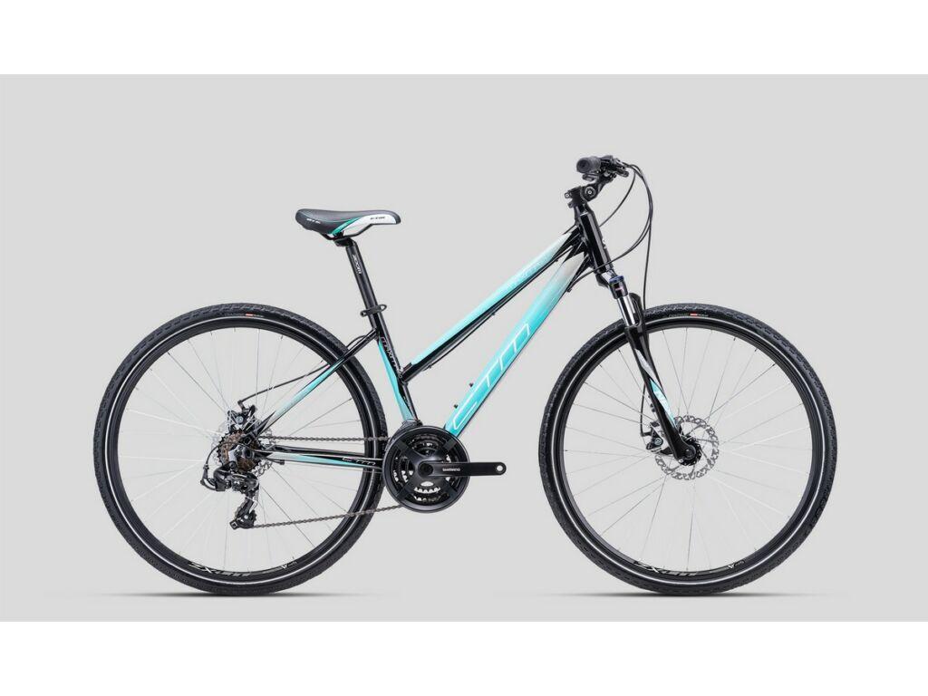 """CTM Maxima 2.0 28"""" női cross kerékpár, fekete / türkíz / szürke"""