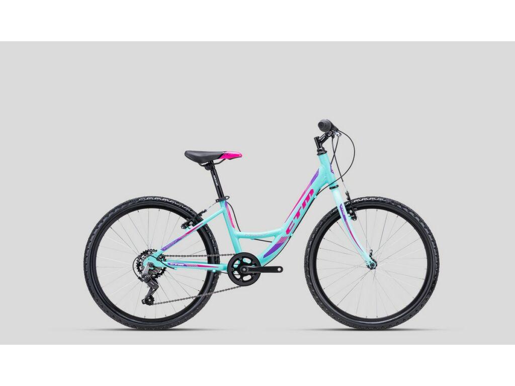 """CTM Missy 24"""" lány gyermekkerékpár, matt türkíz / pink"""