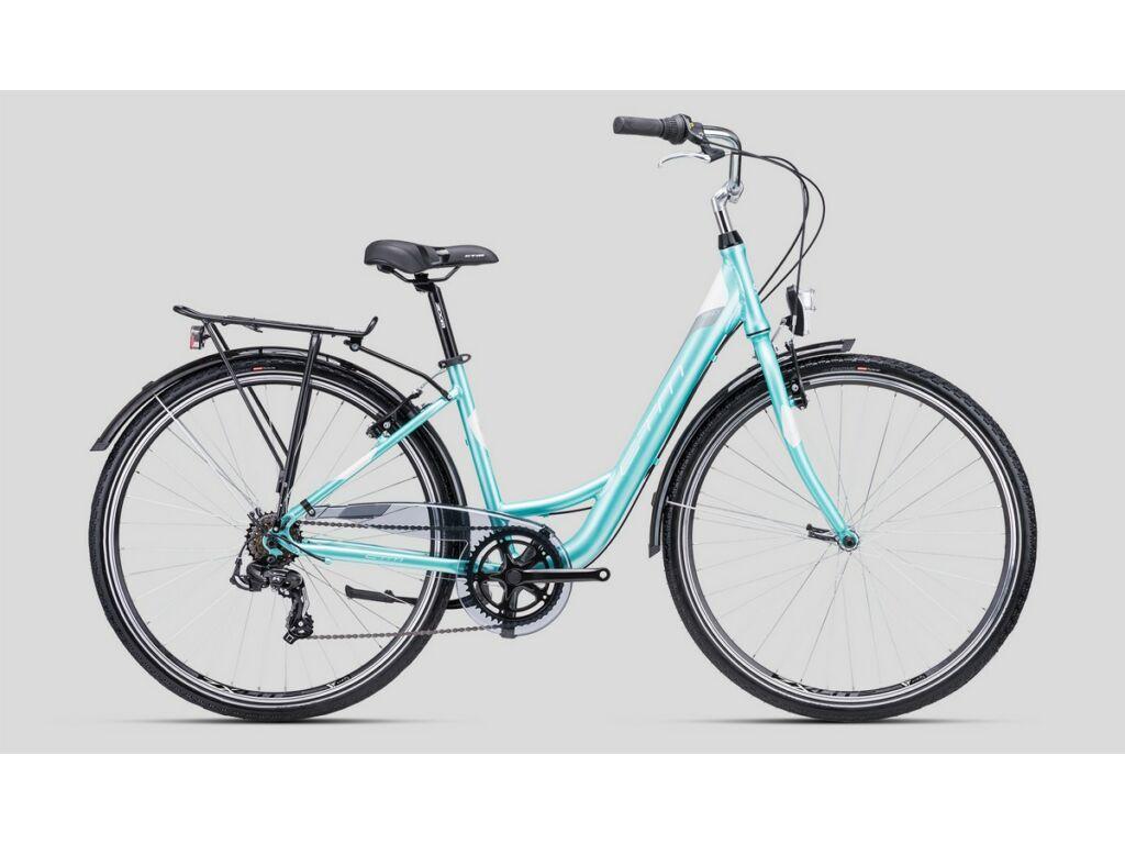 """CTM Nancy 1.0 28"""" női városi kerékpár, gyöngyház türkíz / szürke"""
