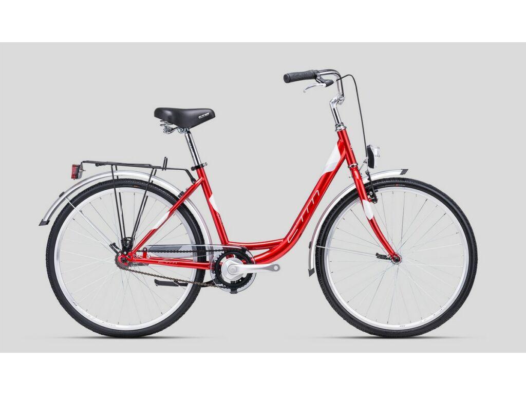 """CTM Olivia 1.0 26"""" női városi kerékpár, gyöngyház meggypiros / ezüst"""