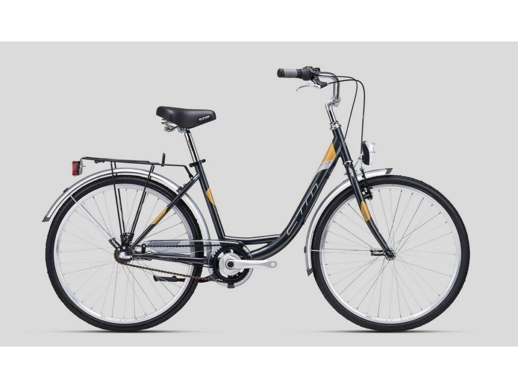 """CTM Olivia 3.0 26"""" női városi kerékpár, gyöngyház antracit / arany"""