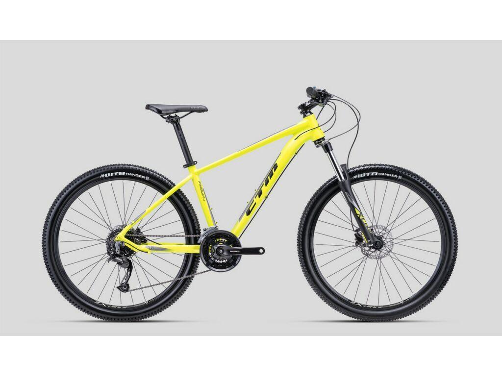 """CTM Rambler 1.0 27.5"""" MTB kerékpár, matt citromszárga / fényes szürke"""