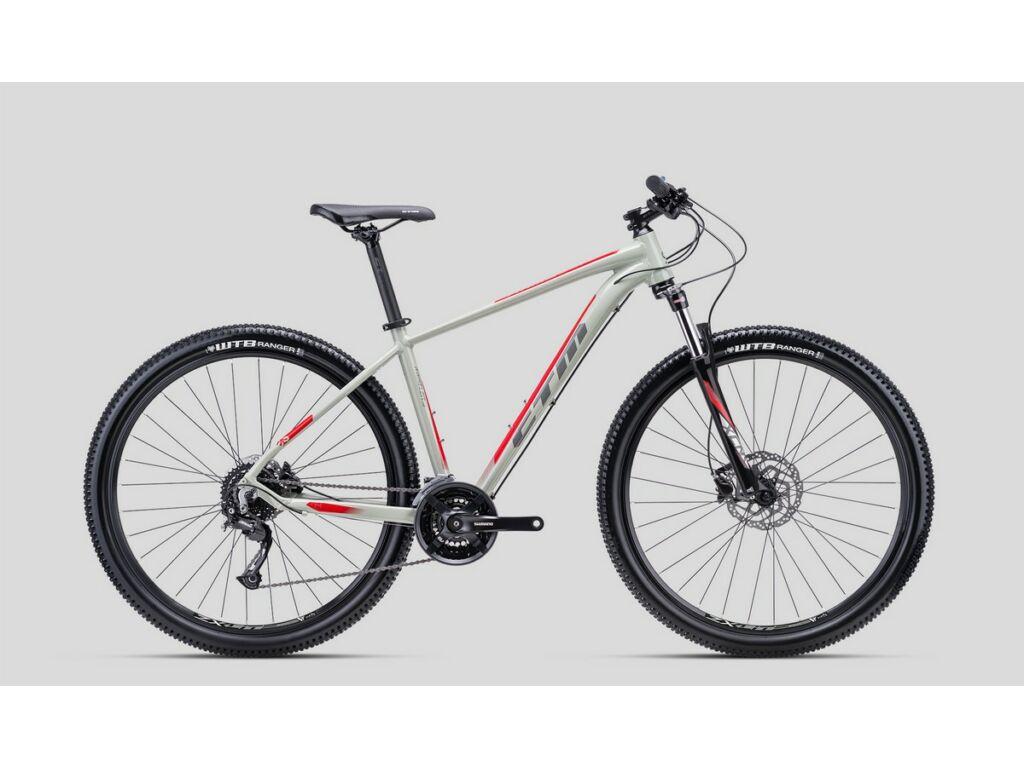 """CTM Rambler 1.0 29"""" MTB kerékpár, világosszürke / piros"""