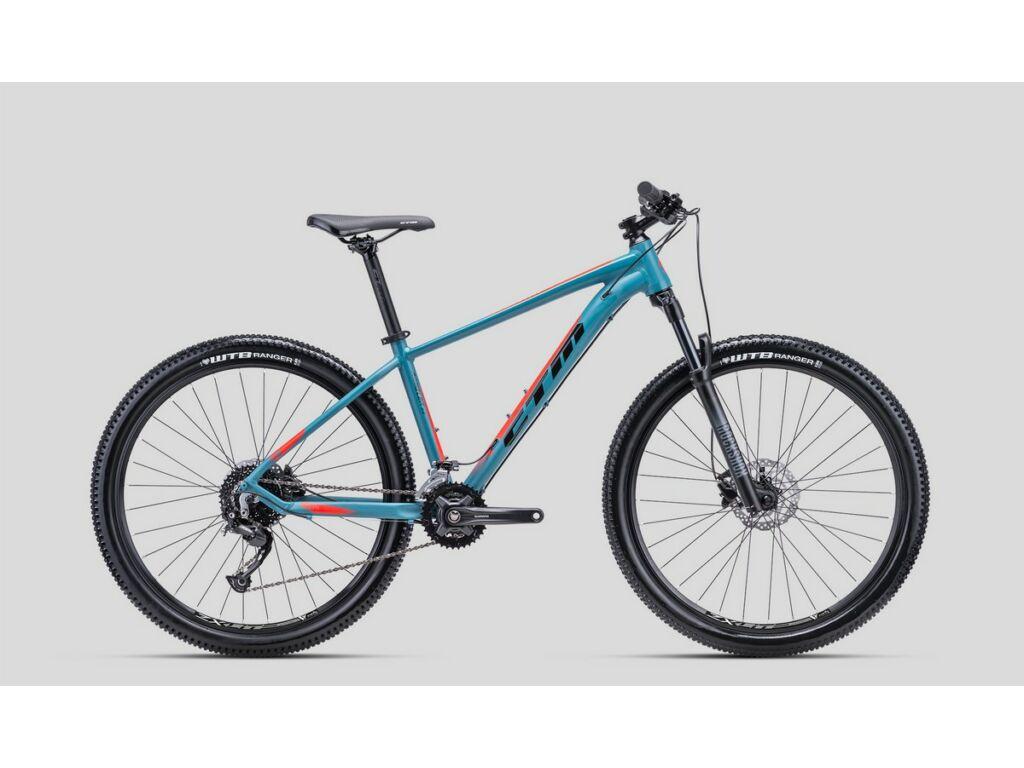 """CTM Rambler 2.0 27.5"""" MTB kerékpár, matt szürkéskék / narancs"""